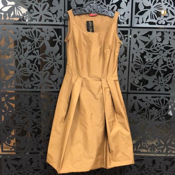 fbf1348a2 Prada Dresses | Bronze Taffeta Cocktail Party Mini Dress | Poshmark